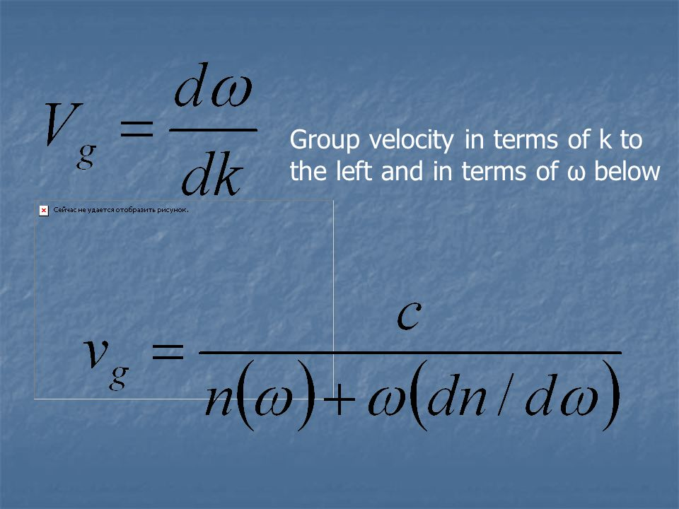 Wave propagation @ different velocities