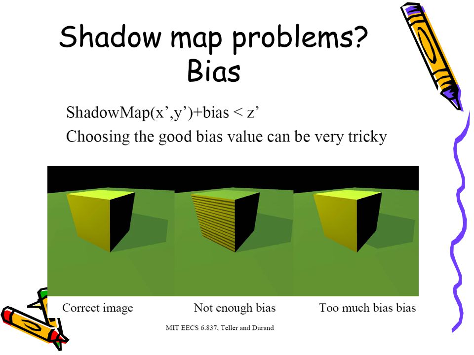 Shadow map problems Bias