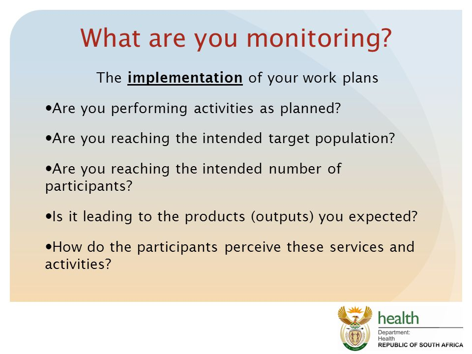 What are you monitoring.