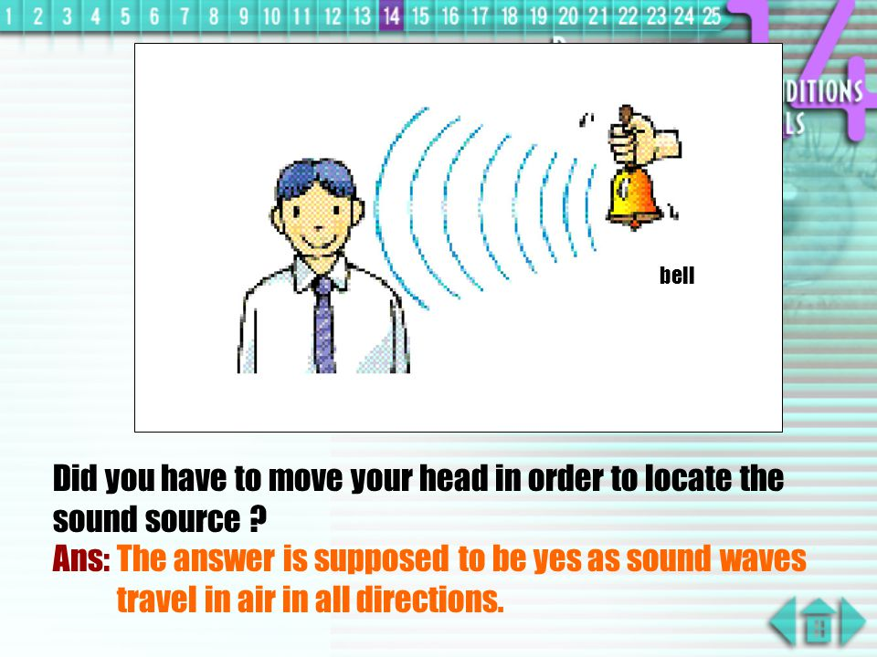 To Locate an Object by Sound