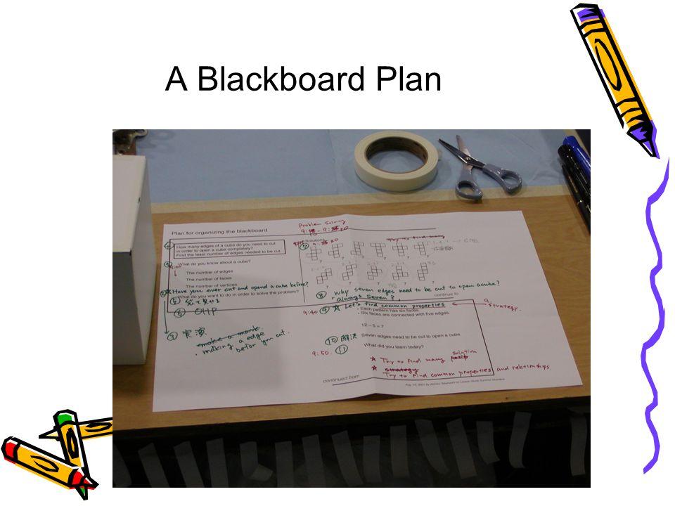 A Blackboard Plan