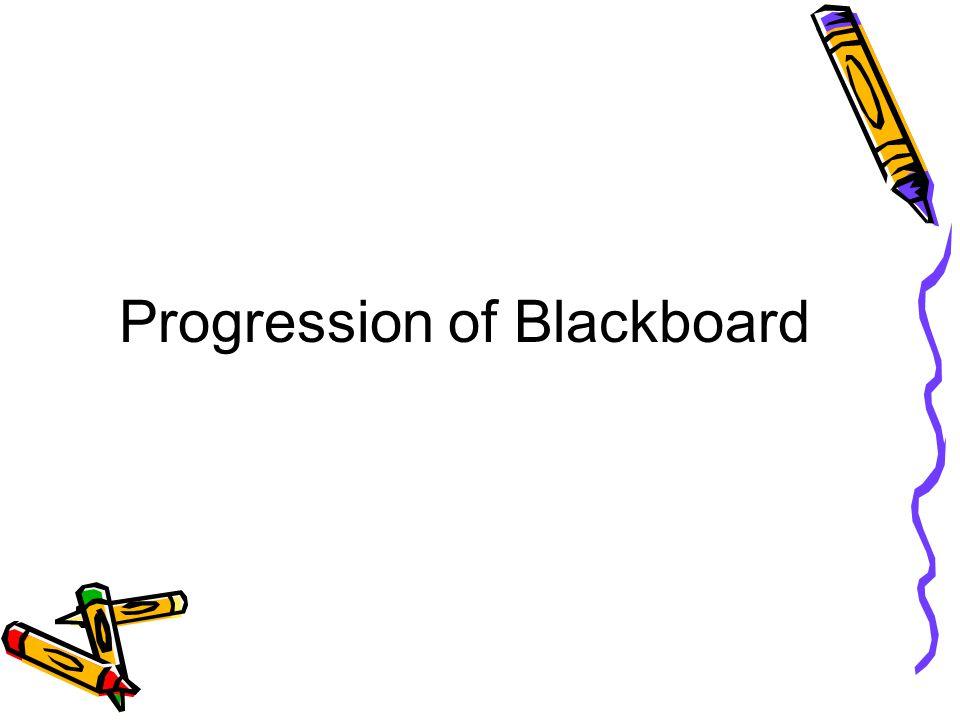 Progression of Blackboard