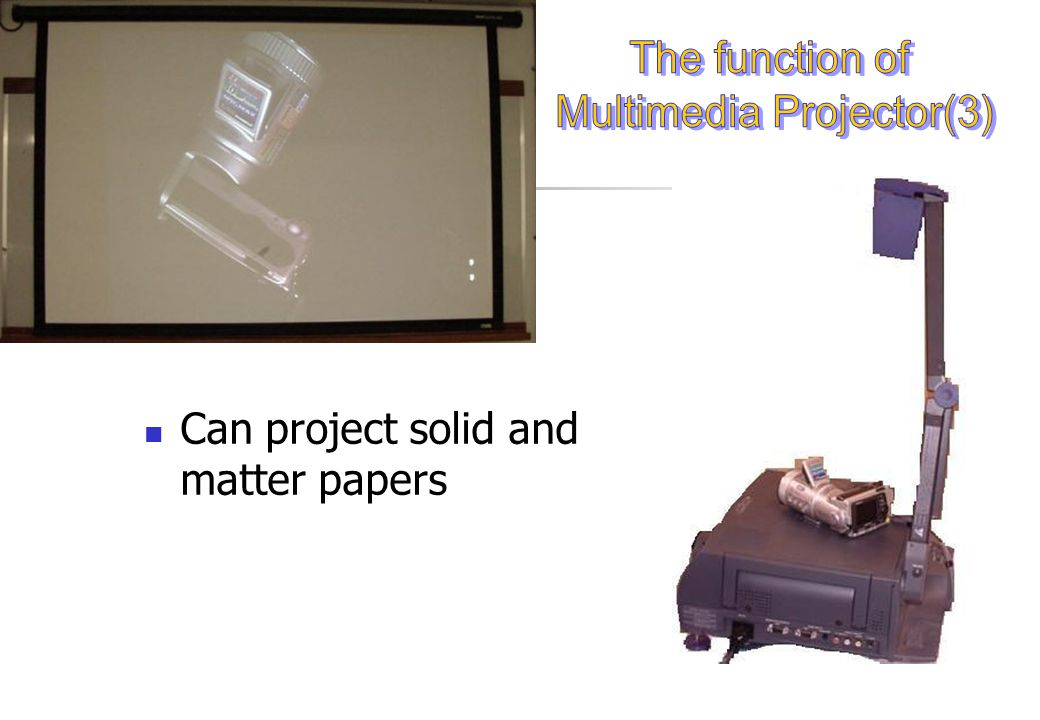 The reasons of use the equipment Comparing the functional of Multimedia projector with the LCD projector Comparing the function of Whiteboards and Flipchart Comparing function of Multimedia projector with overhead projector.
