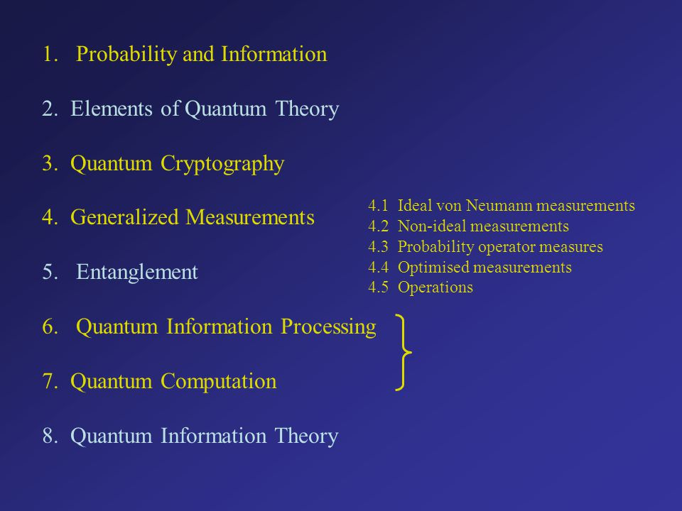 Quantum Information Stephen M.