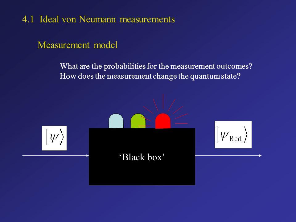 Summary The projective von Neumann measurements do not provide the most general description of a measurement.