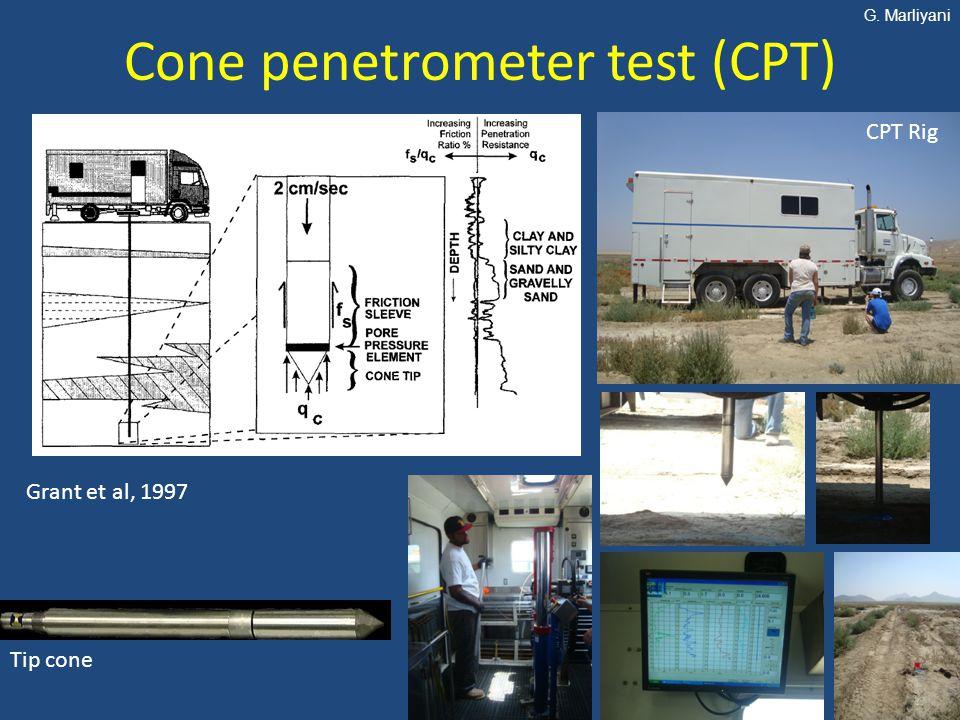 Cone penetrometer test (CPT) Grant et al, 1997 Tip cone CPT Rig G. Marliyani