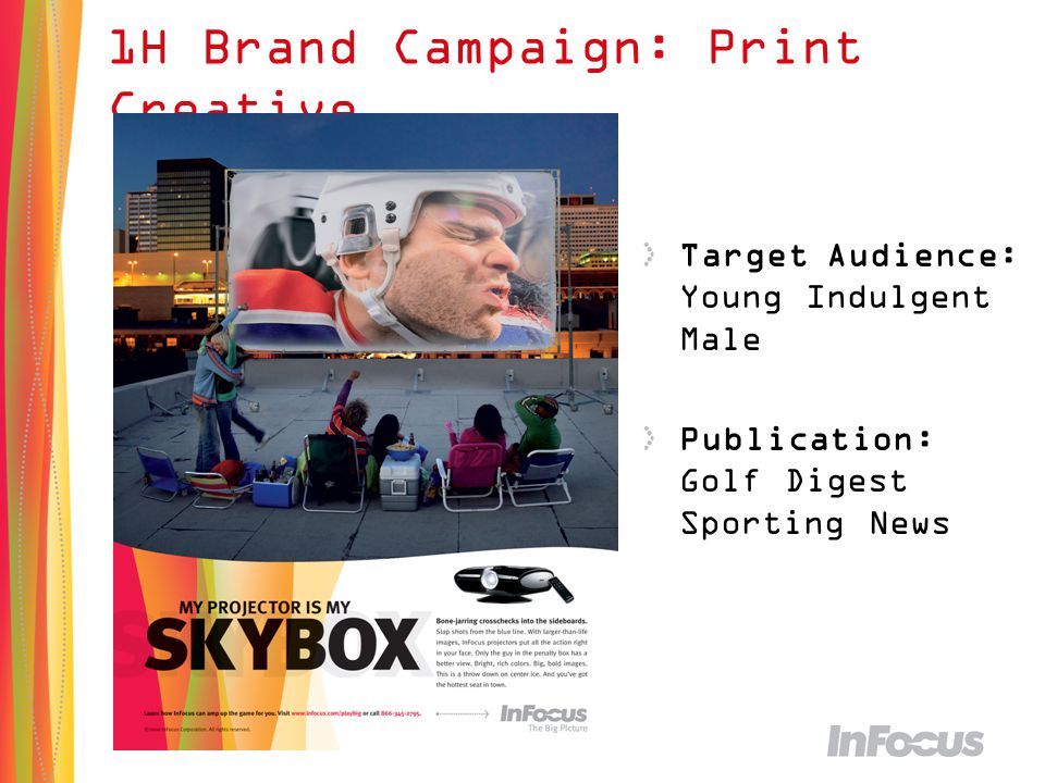 25 1H Brand Campaign: Print Creative Target Audience: Young Indulgent Male Publication: Golf Digest Sporting News