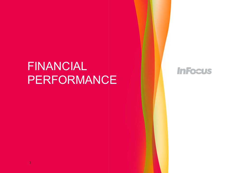 3 FINANCIAL PERFORMANCE