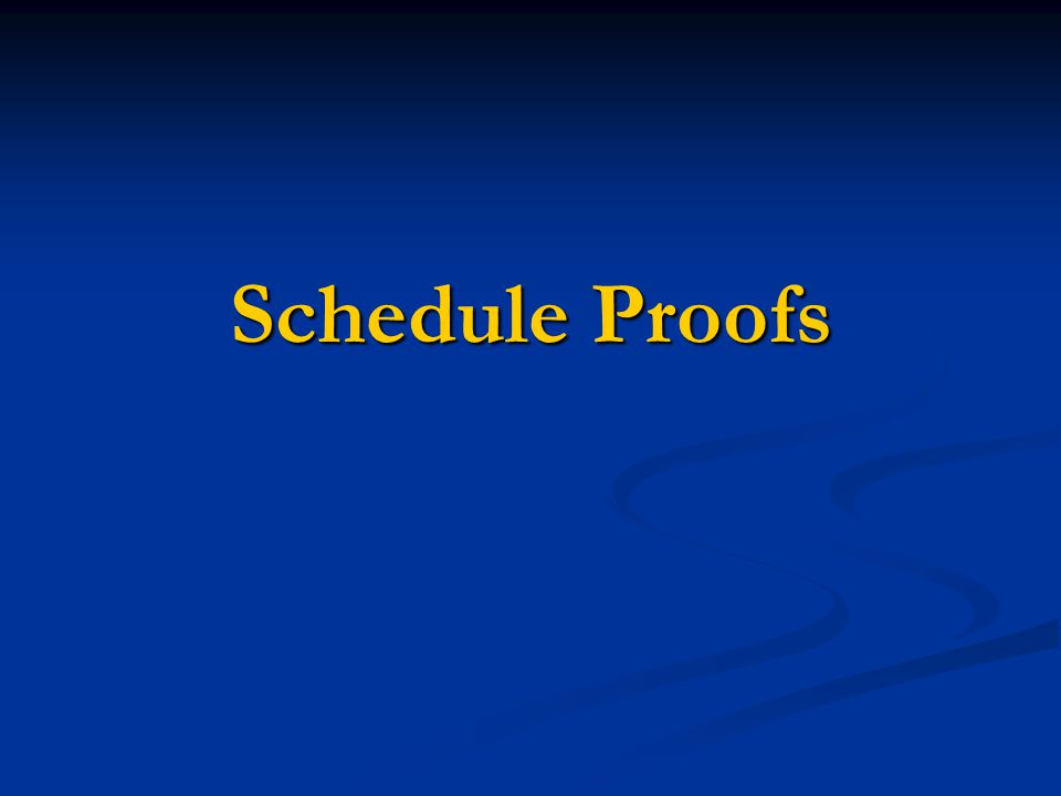 Scheduling Cycle Overview Proof One  An exact copy of the last like quarter  Listed days, times and rooms are not assignments Proof Two  A reflection of the changes indicated on Proof One Exceptions – Courses without approved MCAs and instructors not on your table  Listed days, times and rooms are not assignments Proof Three  Updated schedule based on changes from Proof Two  Listed days, times and rooms are assignments for primaries only