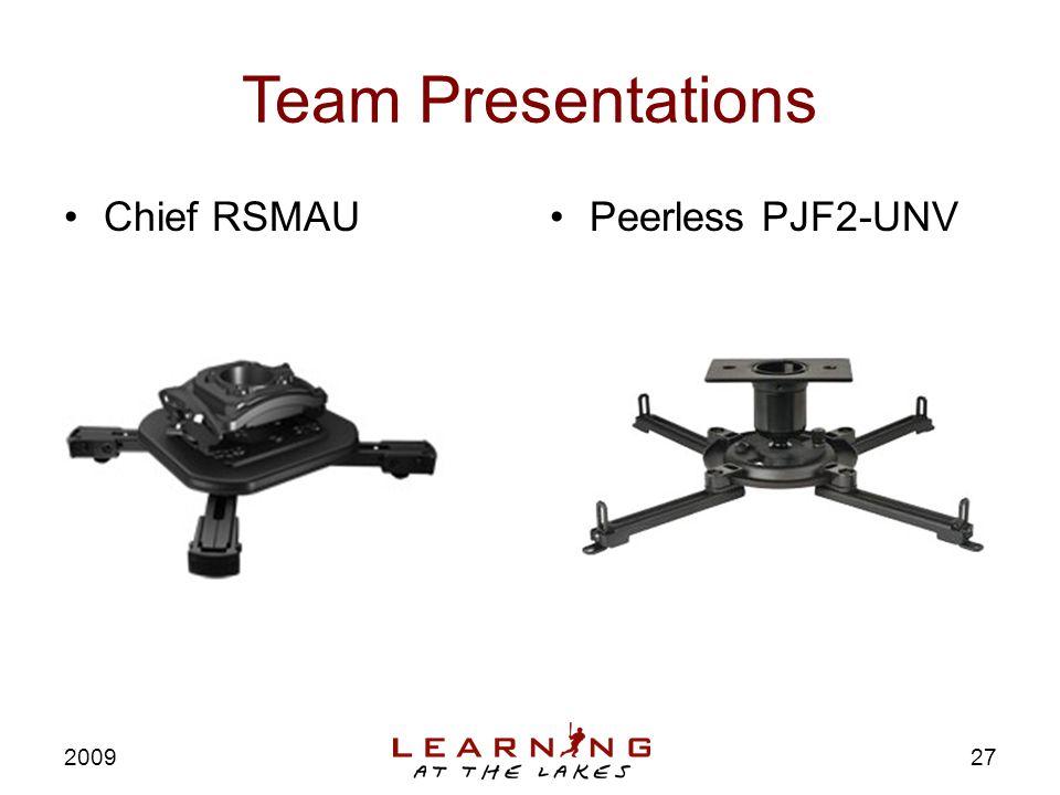 Team Presentations Chief RSMAUPeerless PJF2-UNV 2009 27