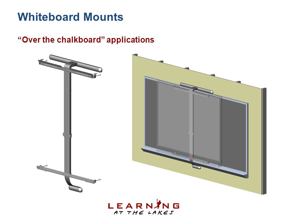 Whiteboard Mounts Over the chalkboard applications