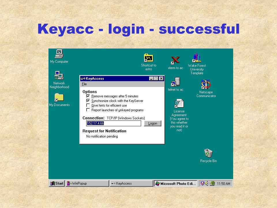 Keyacc - login