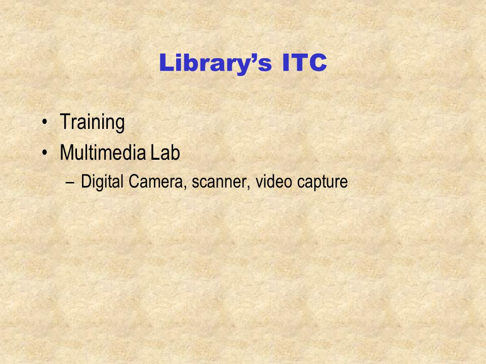 Library web page