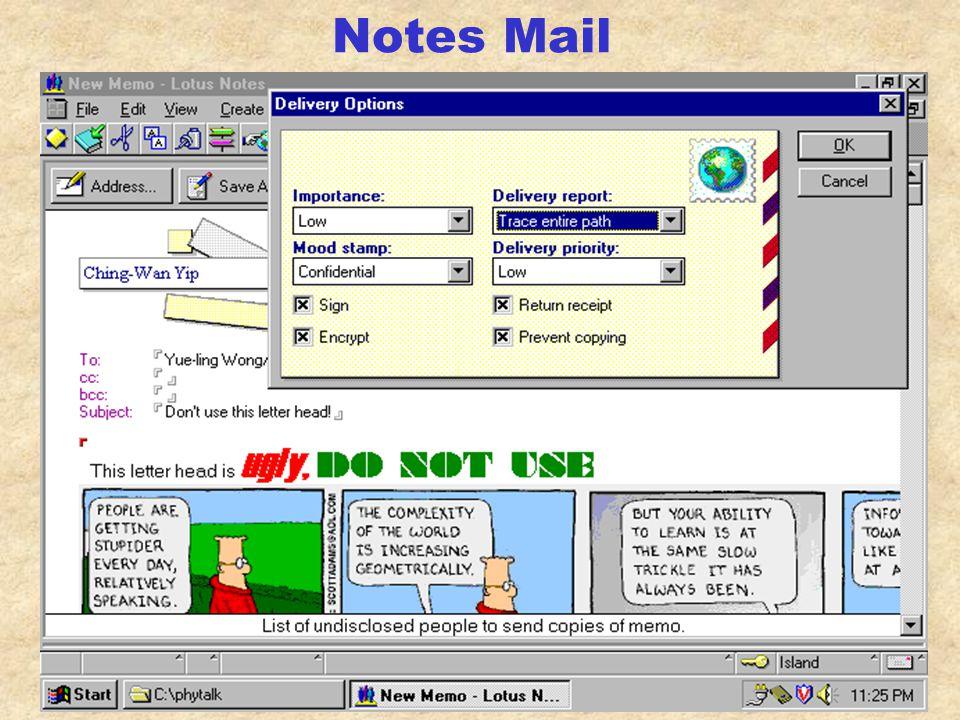Notes Mail/Calendar