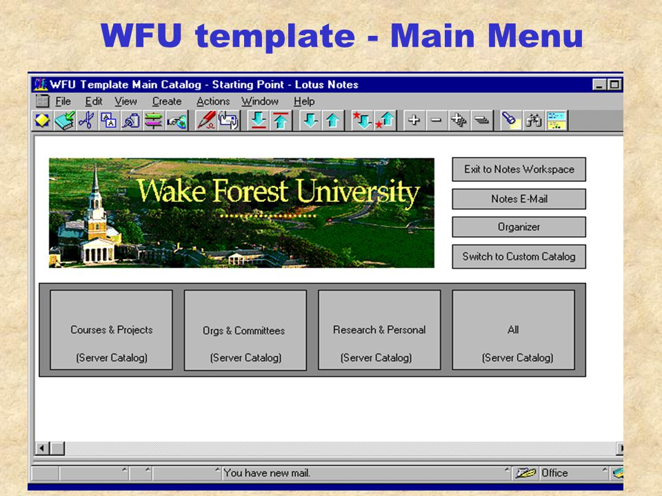 WFU template