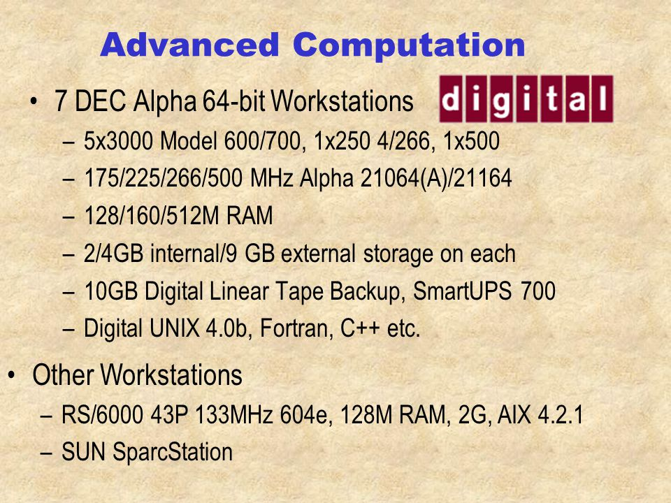 Advanced Computation Lab.