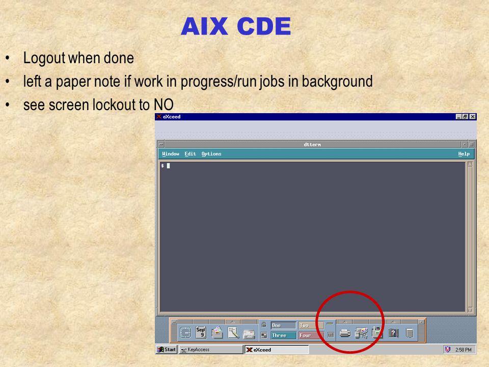 AIX login