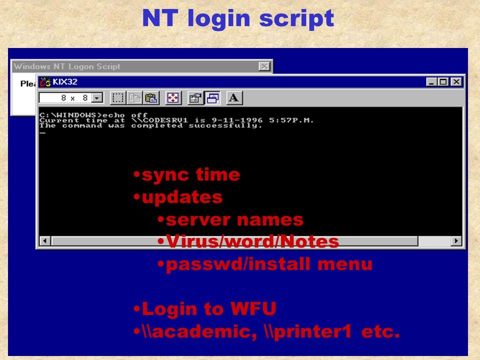 NT Domain login