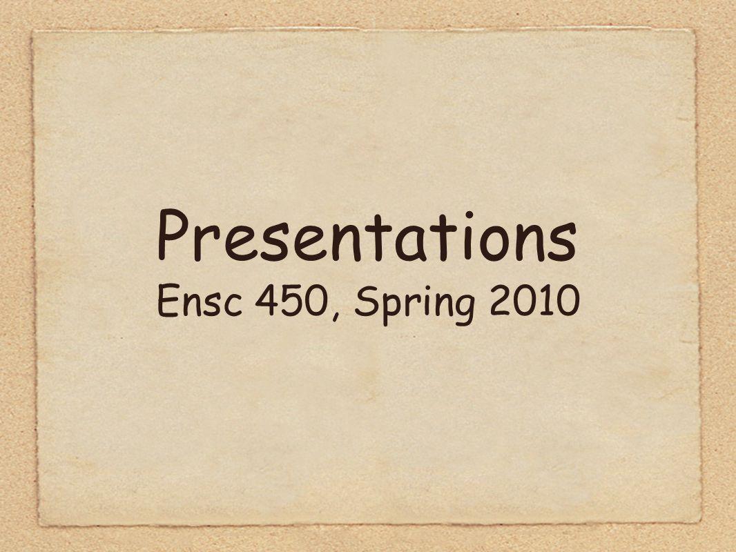 Presentations Ensc 450, Spring 2010