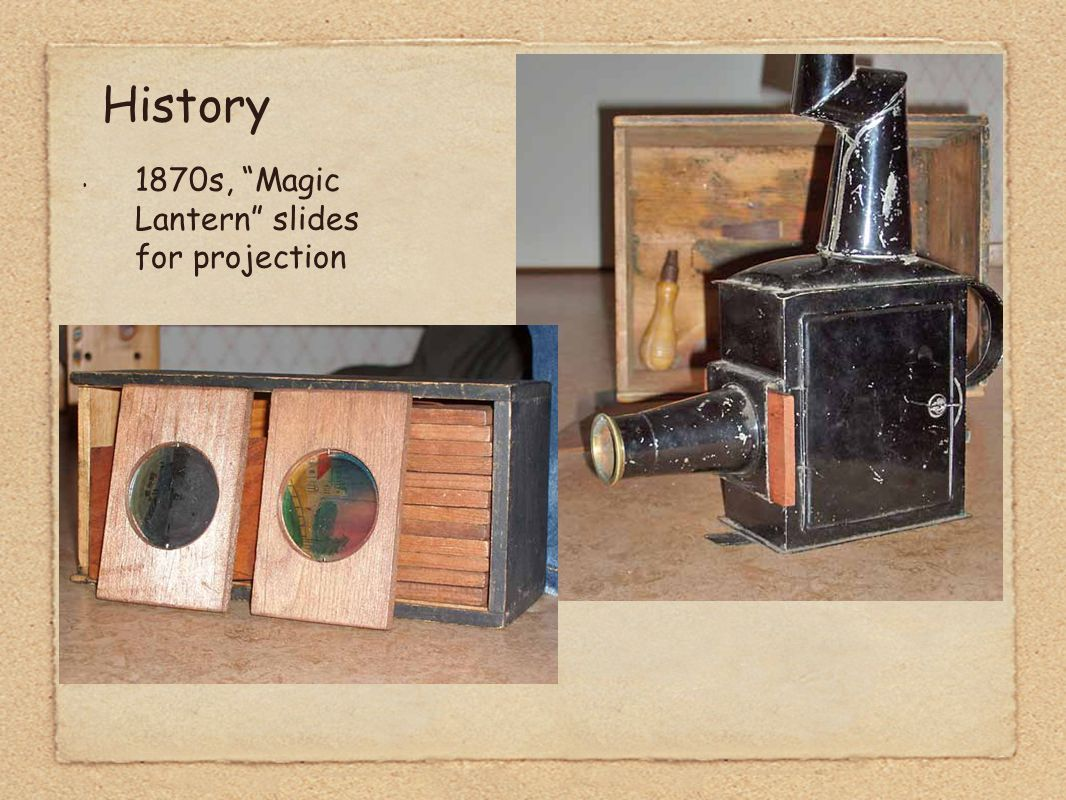 1870s, Magic Lantern slides for projection History