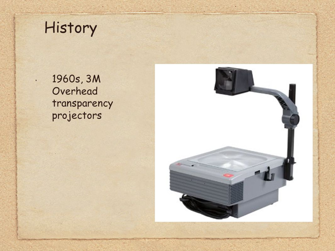 1960s, 3M Overhead transparency projectors History