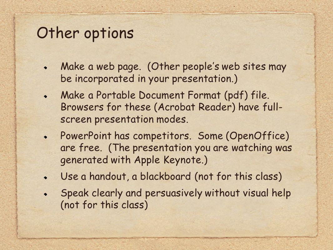 Make a web page.