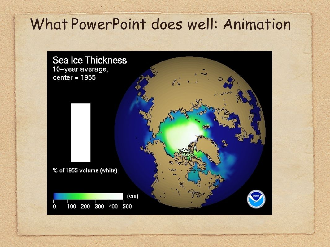 What PowerPoint does well: Animation