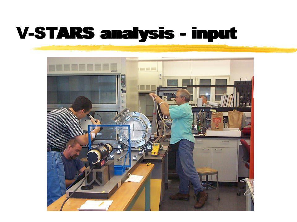 V-STARS analysis - input