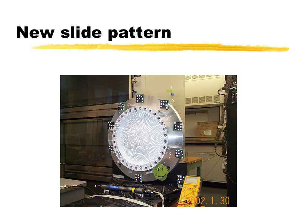 New slide pattern