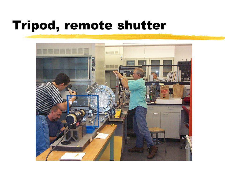 Tripod, remote shutter