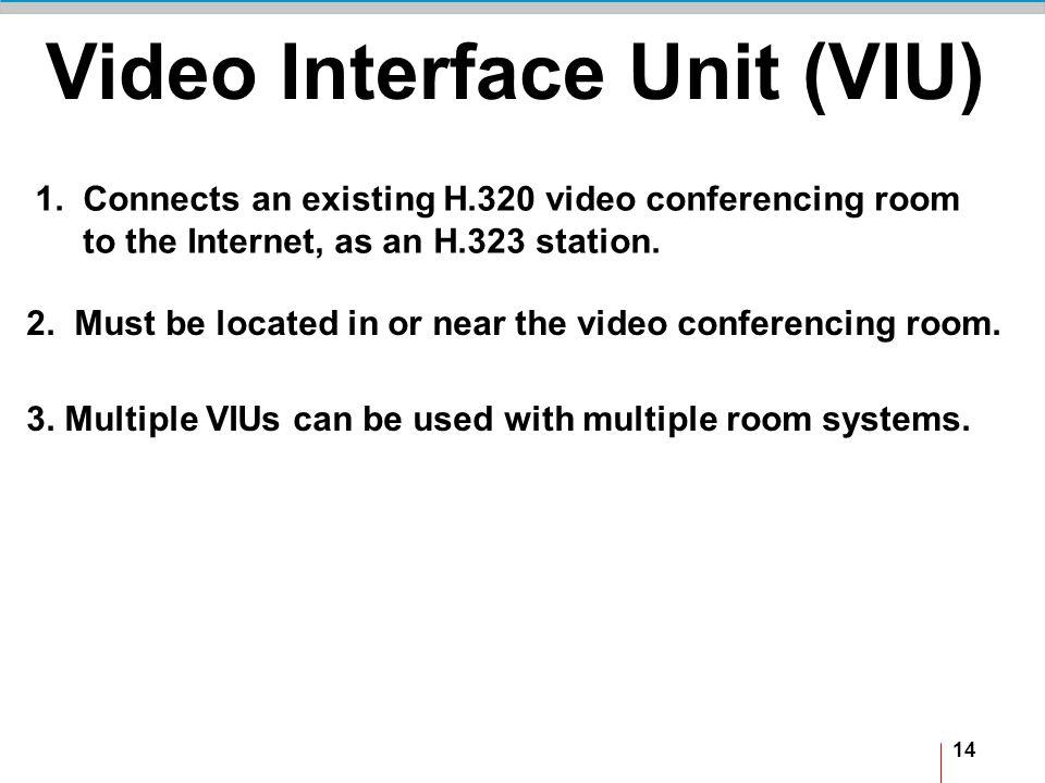 14 Video Interface Unit (VIU) 1.