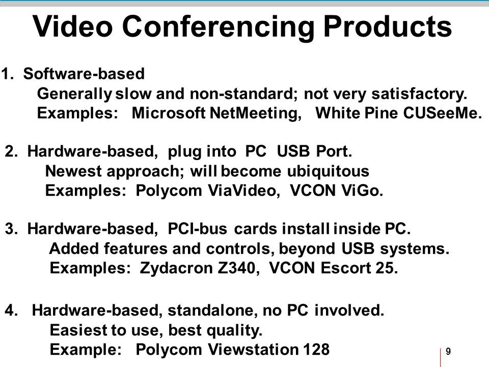 9 Video Conferencing Products 1.