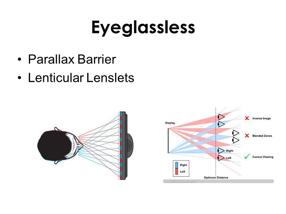 Eyeglassless Parallax Barrier Lenticular Lenslets