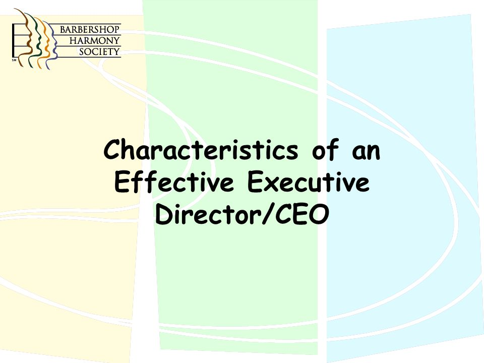 Characteristics of an Effective Executive Director/CEO
