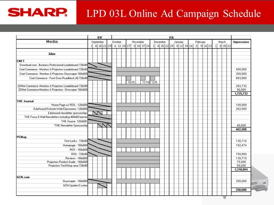 LPD 03L Online Ad Campaign Schedule