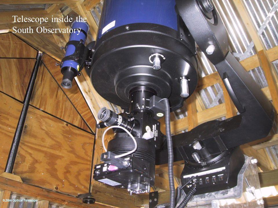 Telescope inside the South Observatory 0.30m Optical Telescope
