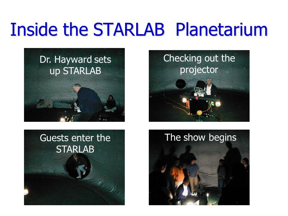 Inside the STARLAB Planetarium Dr.