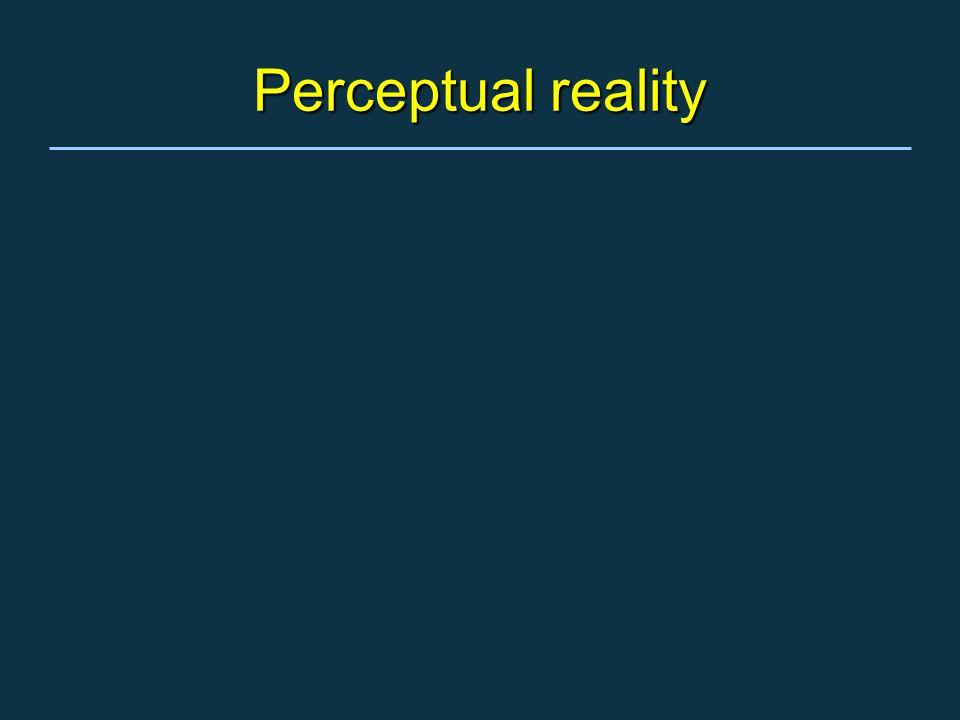 Perceptual reality