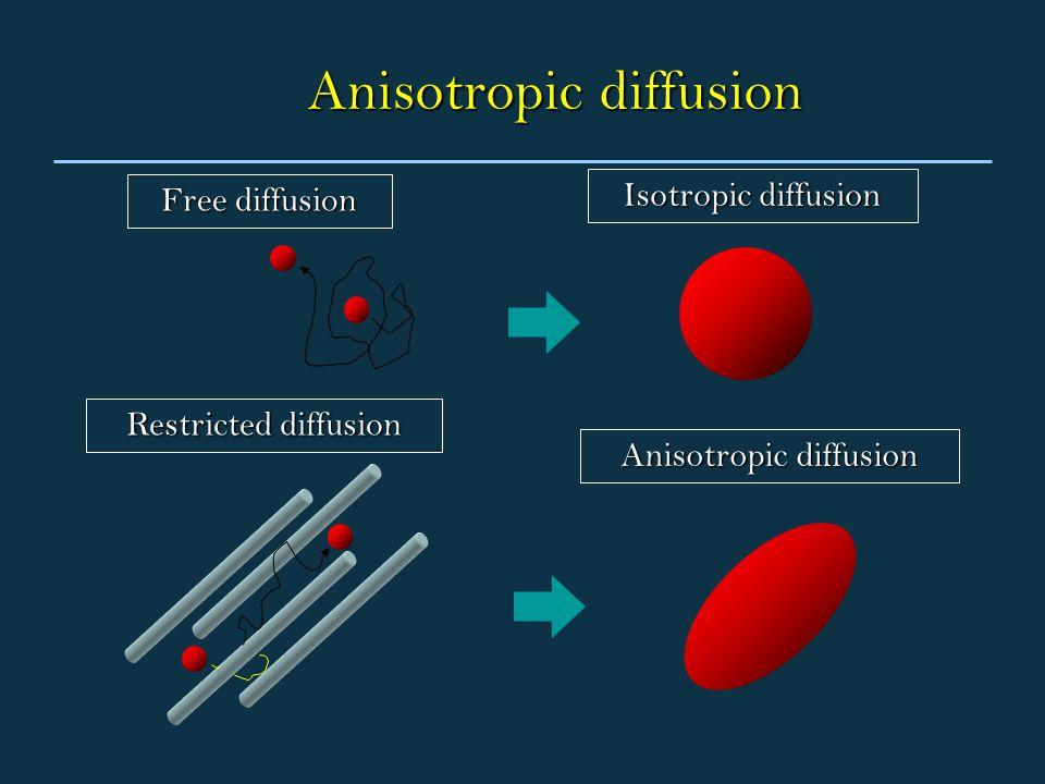 Anisotropic diffusion Free diffusion Restricted diffusion Isotropic diffusion Anisotropic diffusion
