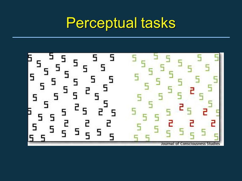 Perceptual tasks
