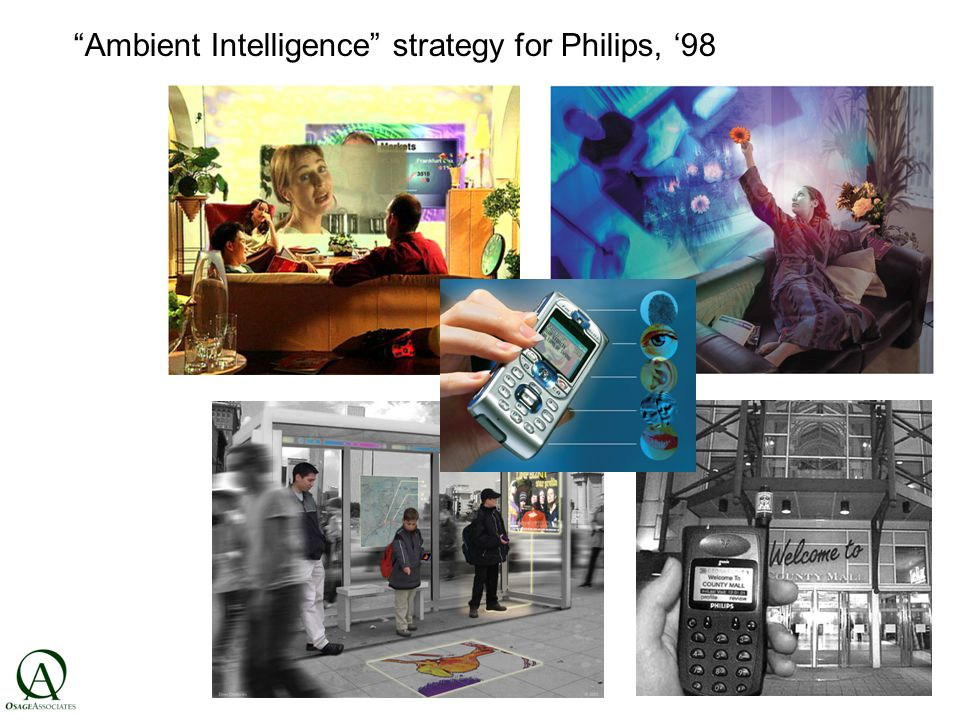Ambient Intelligence strategy for Philips, '98 all photos: Philips