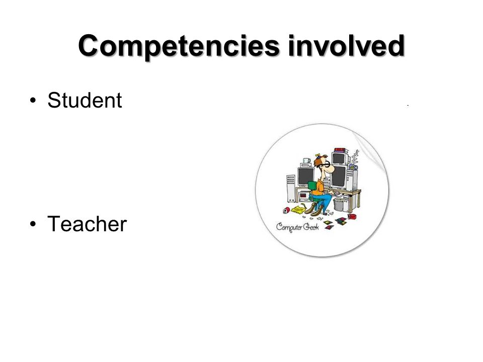 Competencies involved Student Teacher