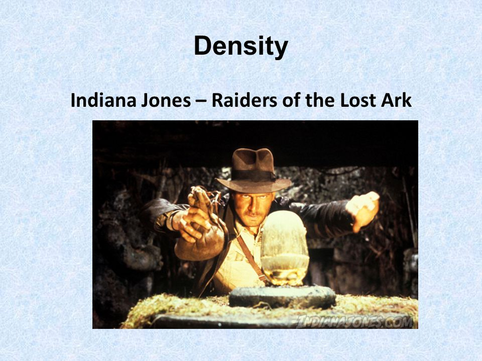 Density Indiana Jones – Raiders of the Lost Ark