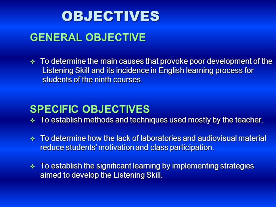 Objectives To refresh teachers'knowledge about teaching- methodologies.