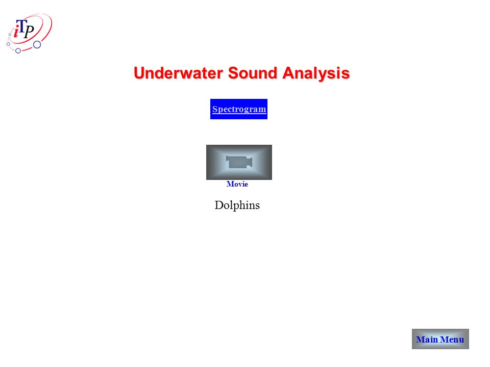 Spectrogram Underwater Sound Analysis Main Menu Dolphins Movie