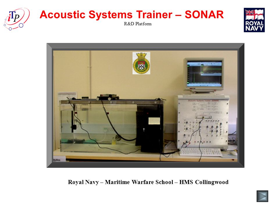 Acoustic Systems Trainer – SONAR R&D Platform Royal Navy – Maritime Warfare School – HMS Collingwood
