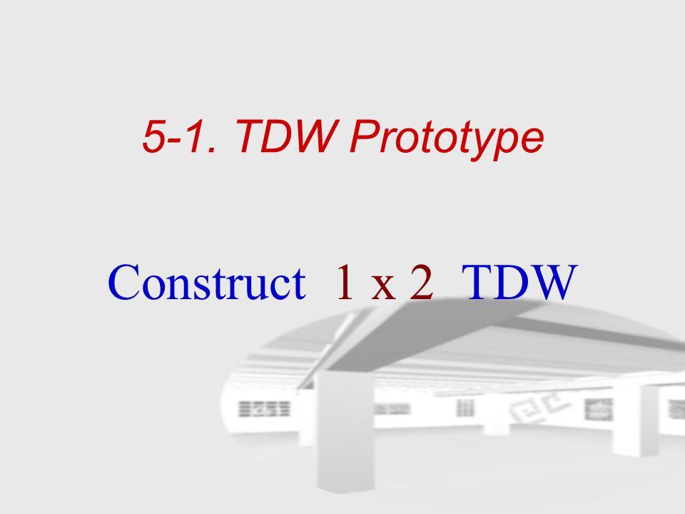 5-1. TDW Prototype Construct 1 x 2 TDW