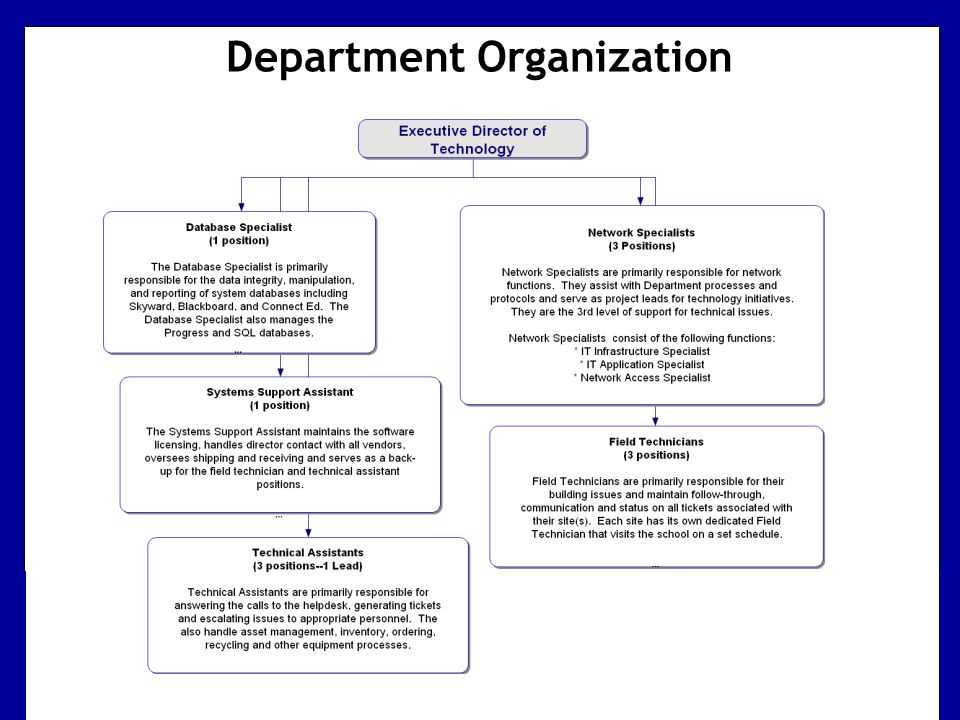 Department Organization