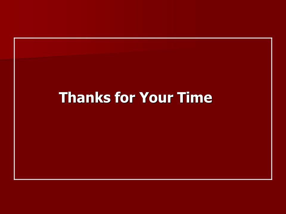 Thanks for Your Time Thanks for Your Time
