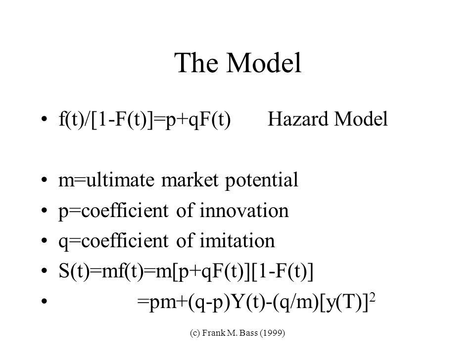 (c) Frank M. Bass (1999) Capture Law-Mainframes-Beautiful!